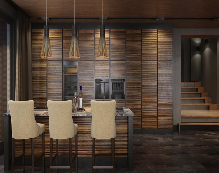 cuisine design moderne meubles en bois