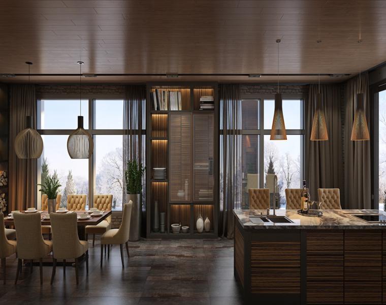 cuisine design moderne salle à manger
