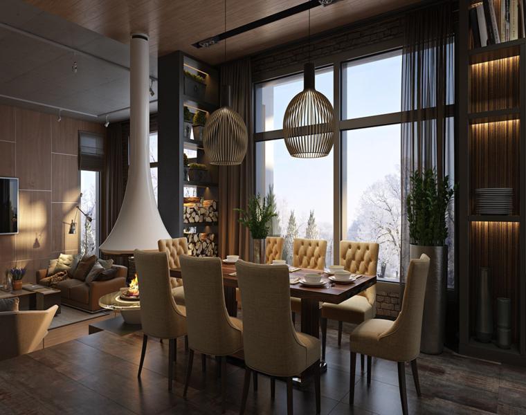 meubles de salle à manger chaises rétro