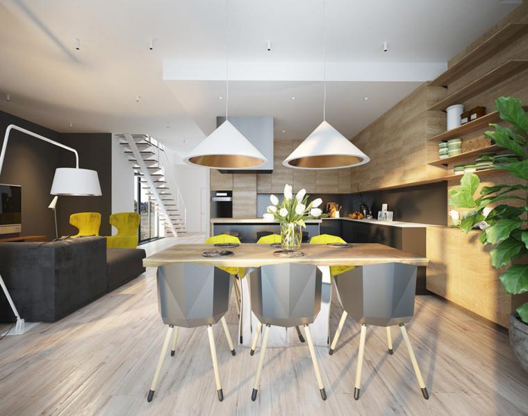 chaises de salle à manger design original