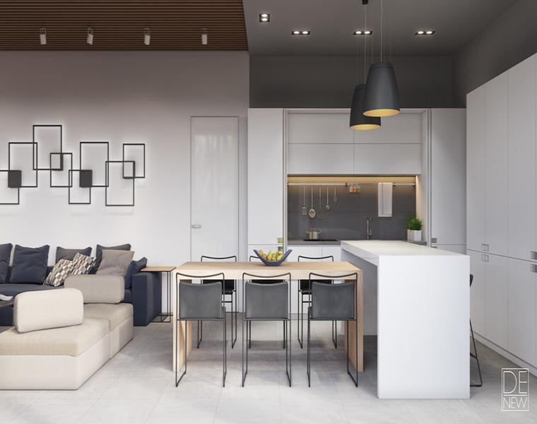 cuisine / salle à manger studio Denew