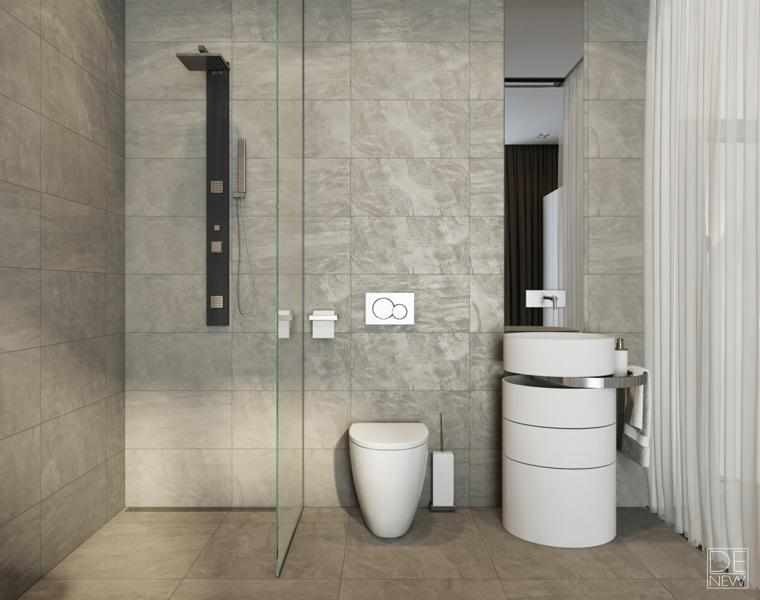 carrelage gris salle de bain