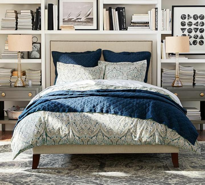 Chambres modernes lit blanc idées de tables grises