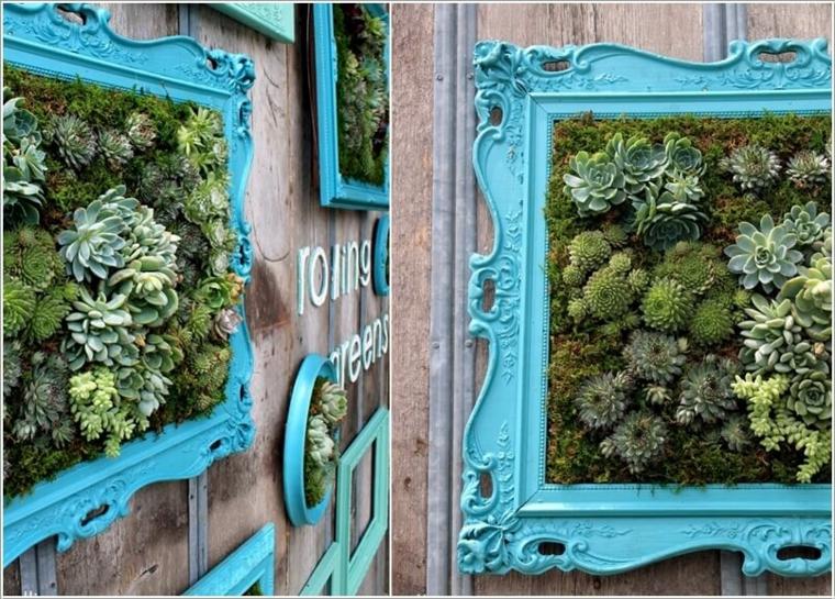 cadres vintage turquoise originaux