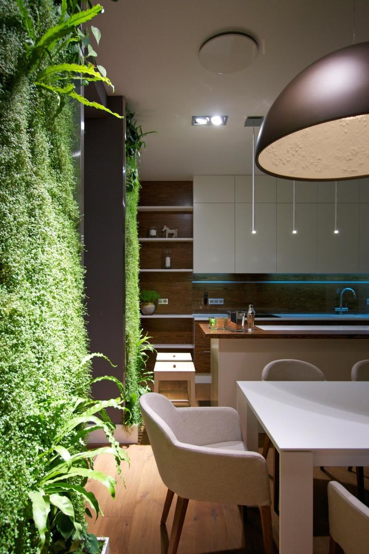 cuisine salle à manger jardin vertical