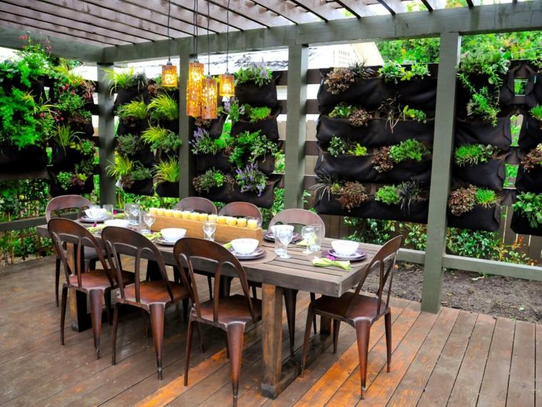 salle à manger design moderne déco vert