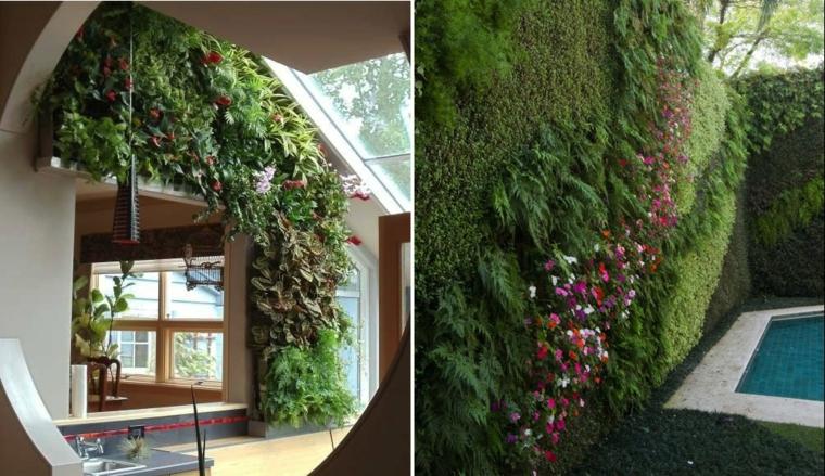 décoration intérieure murs verts