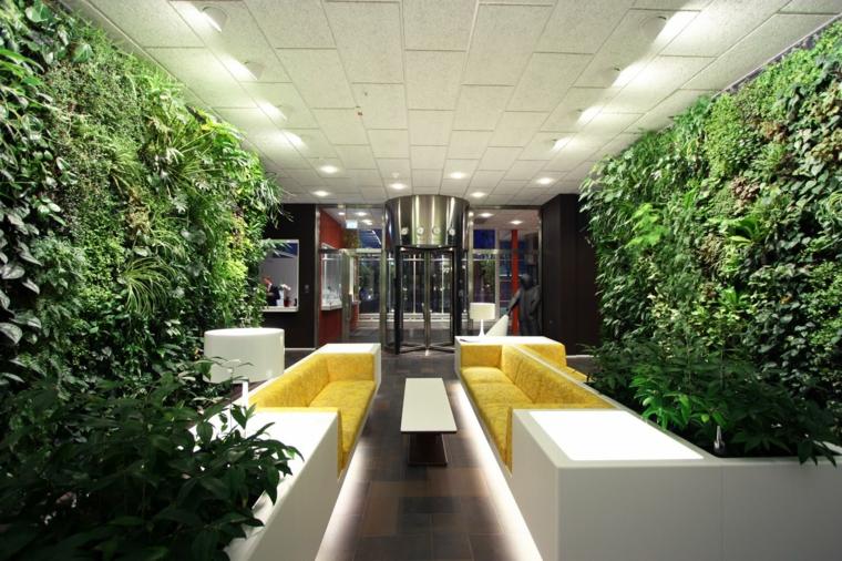 décorations intérieures murs verts