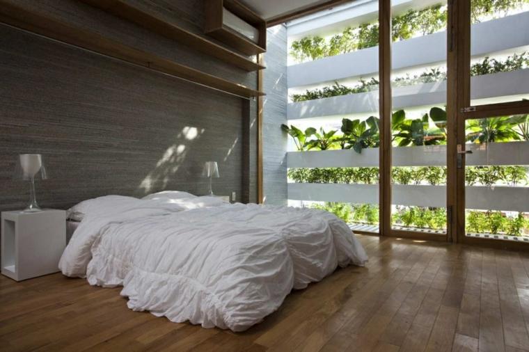 jardin vertical de chambre moderne