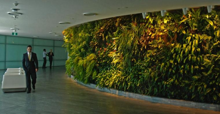 conception de mur de jardin intérieur