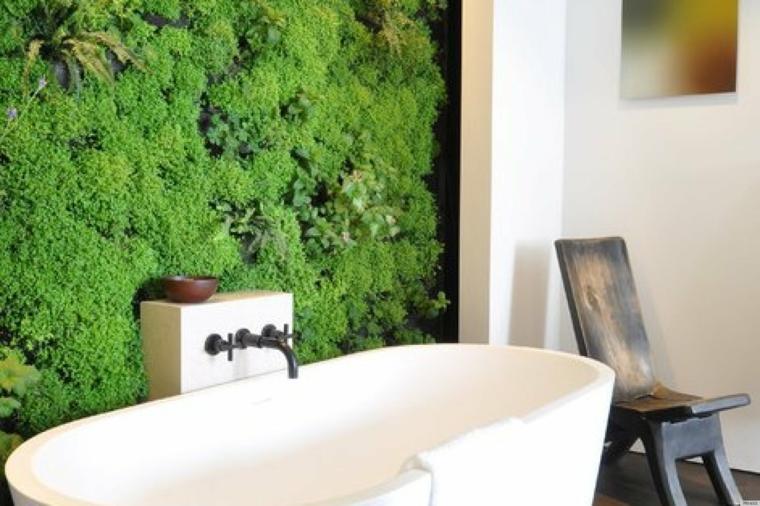 salle de bain moderne jardin vertical