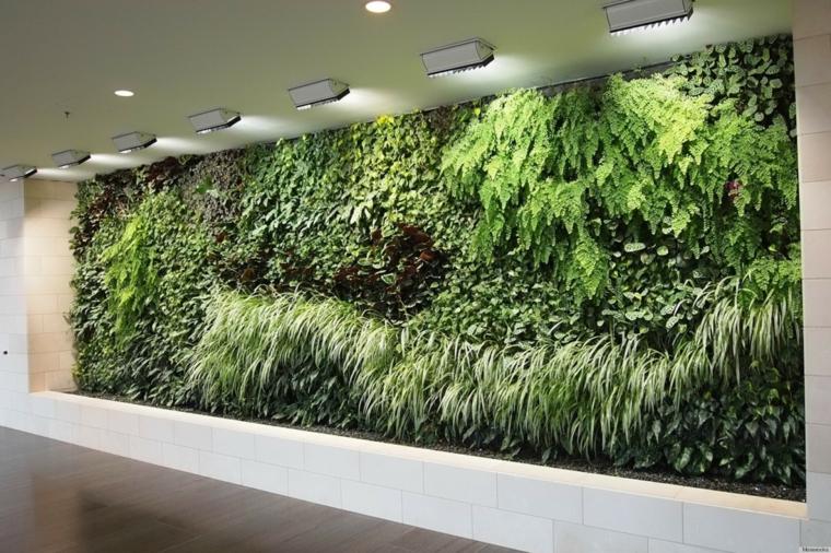 couloir intérieur jardin vertical vert