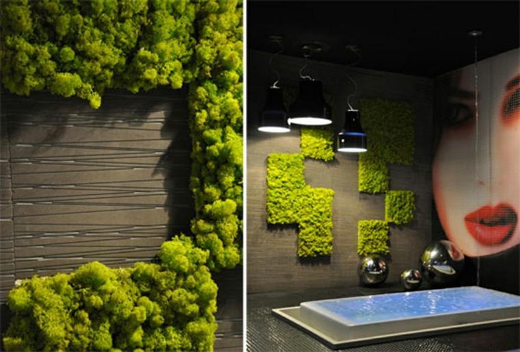 intérieur salle de bain moderne vert