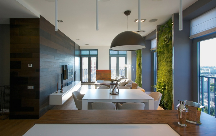 intérieur de style luxueux moderne vert
