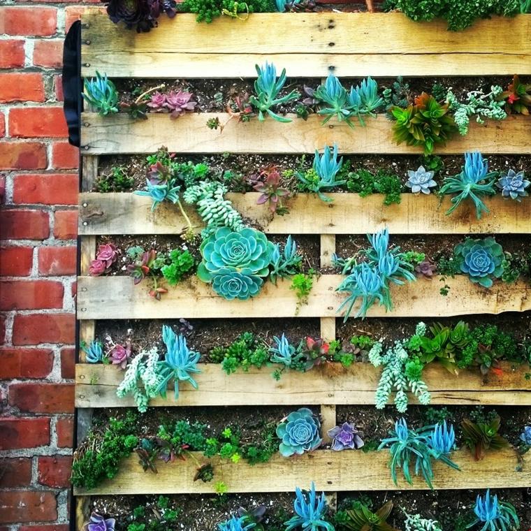 palette en bois de jardin vertical