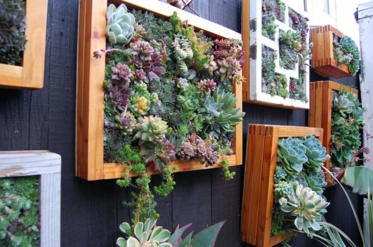 murs de jardins cadres en bois