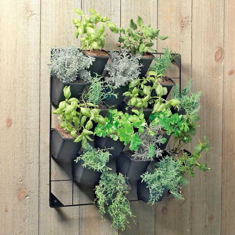mur de plantes de jardinière d'origine