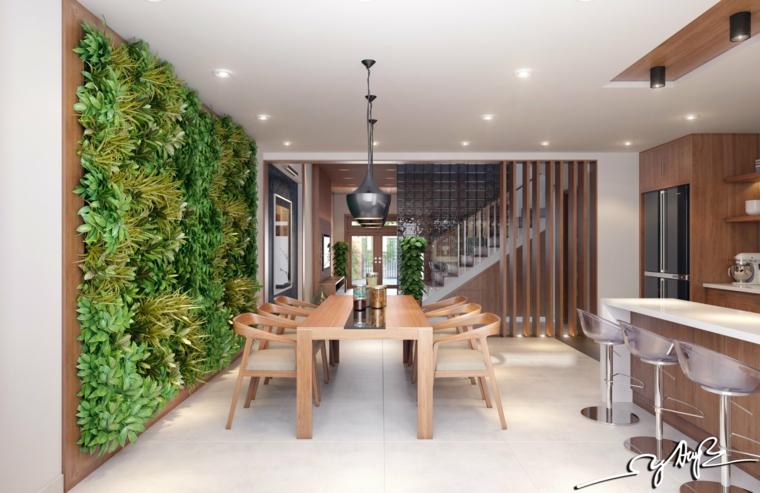 salle à manger jardin vertical