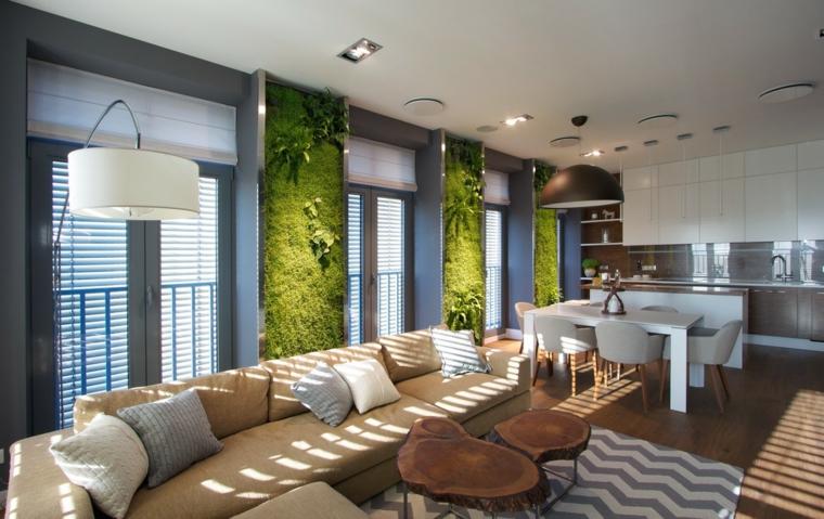 murs verts de salon moderne