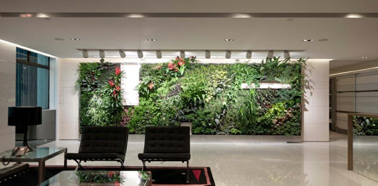 salon moderne jardin vertical