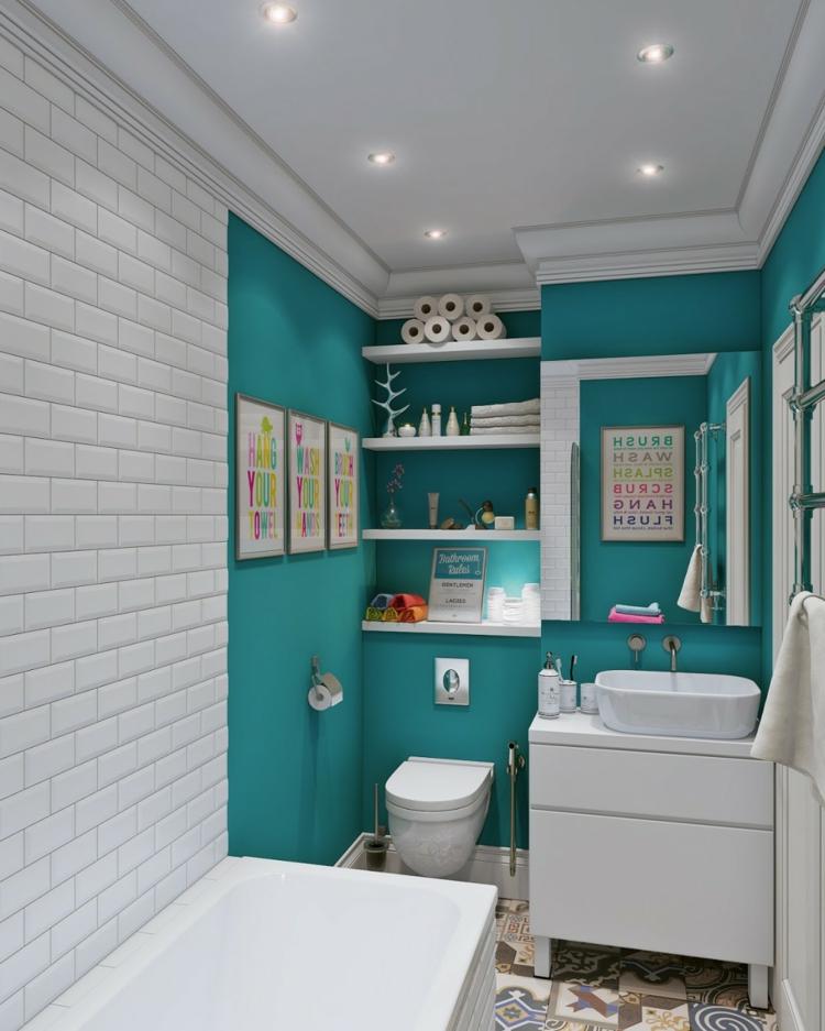 petites serviettes de bain à carreaux colorés