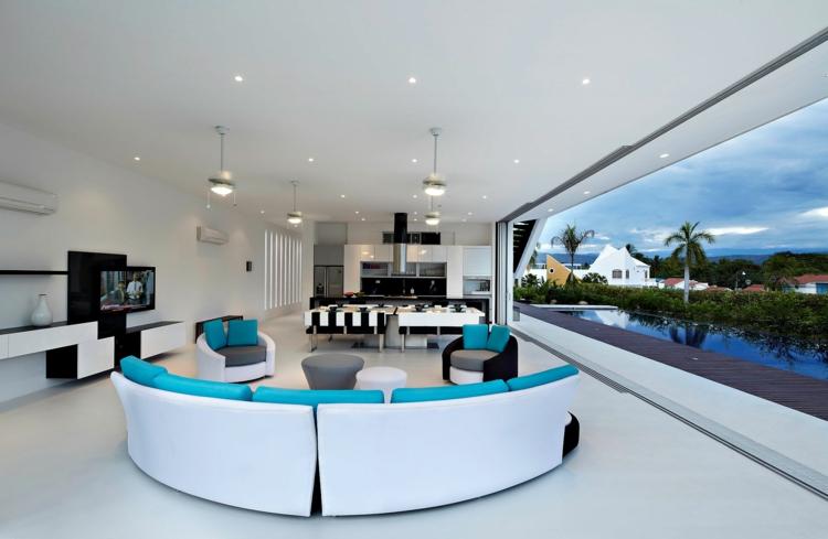 espaces modernes chambres meubles circulaires