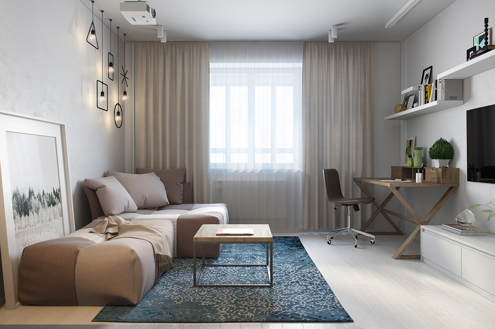 salon de style moderne neutre