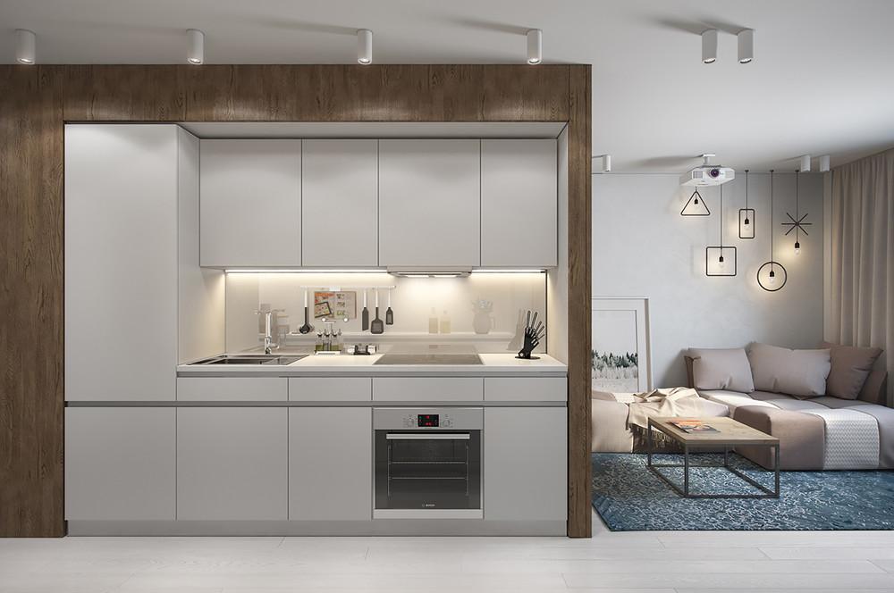 cuisine design moderne et compacte