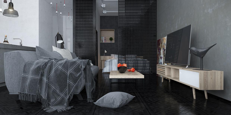 mobilier design moderne gris