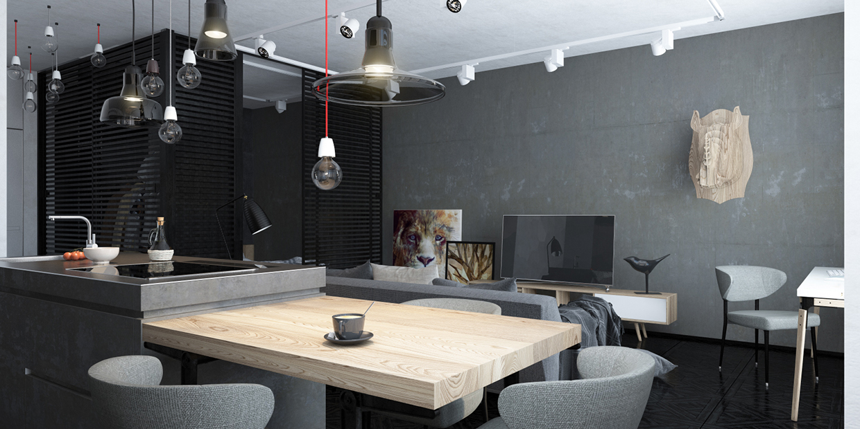 cuisine salle à manger design loft