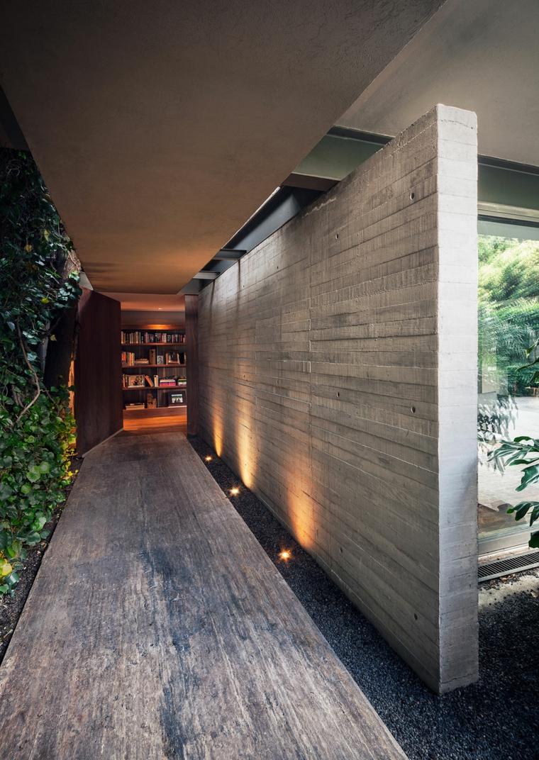 Idées de béton de mur de couloir de maison de Sierra Leone