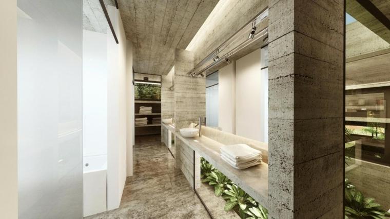 effets optiques éviers de salle de bain mur en béton idées