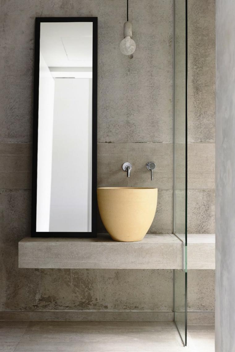 effets optiques mur de lavabo en béton idées idées