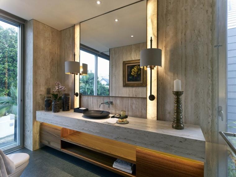 effets optiques mur salle de bain en béton idées modernes