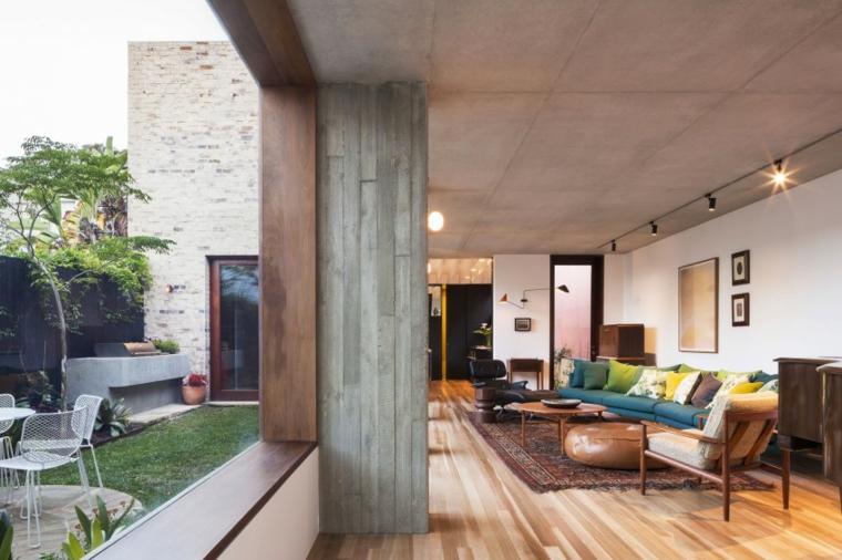 effets optiques conception de mur en béton idées de meubles vintage