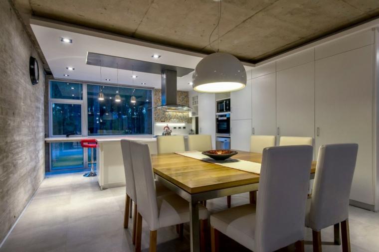 Chaises de salle à manger grises à effet optique