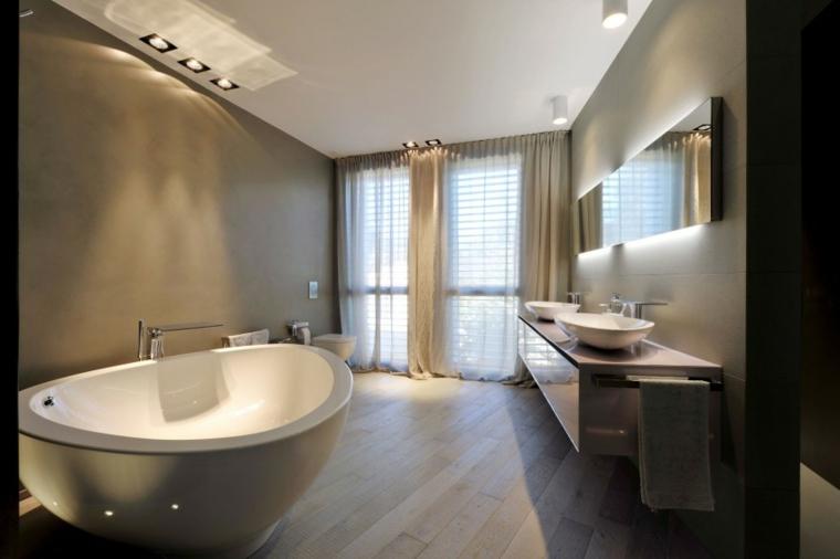 maison de mur en béton idées de baignoire ovale moderne