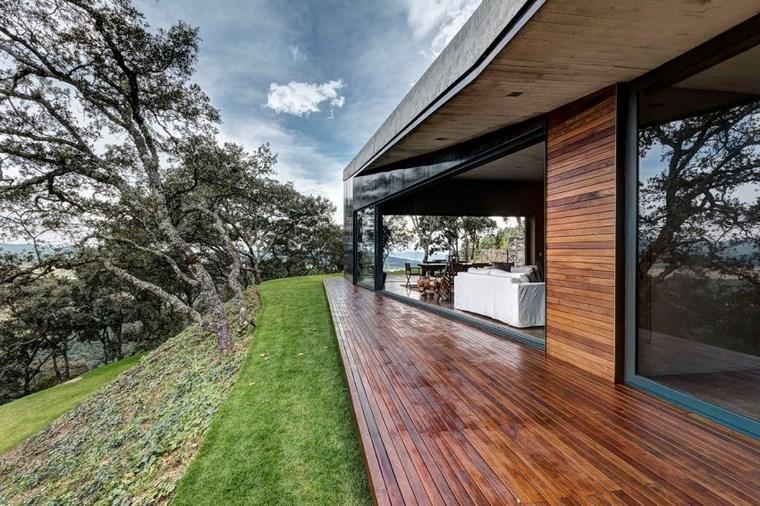 maison de charme jardin sol en bois idées de terrasse