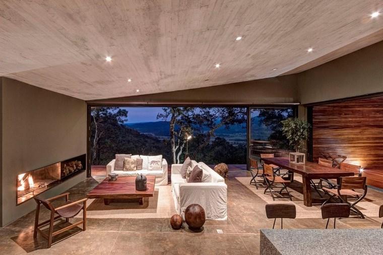 maison de charme salon cheminée idées de canapé blanc