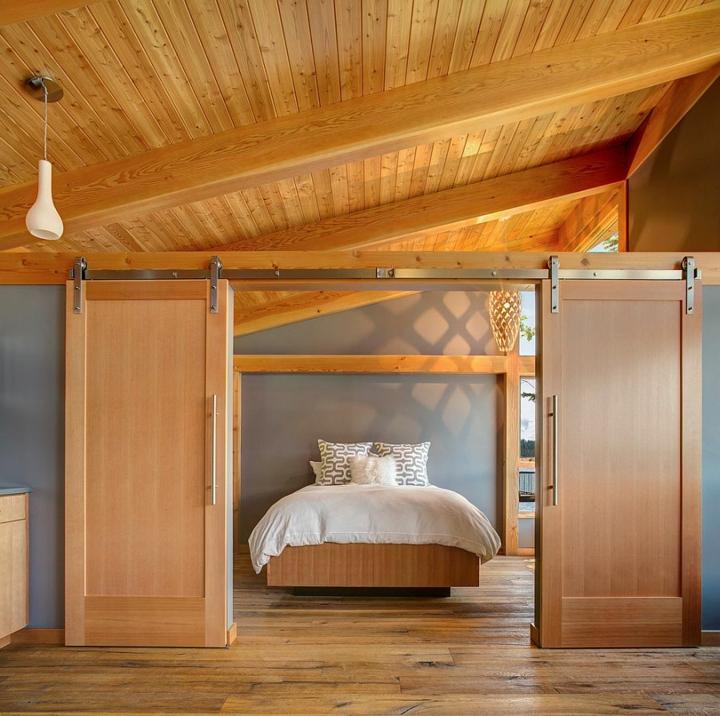 portes coulissantes design lanternes chambres blanches