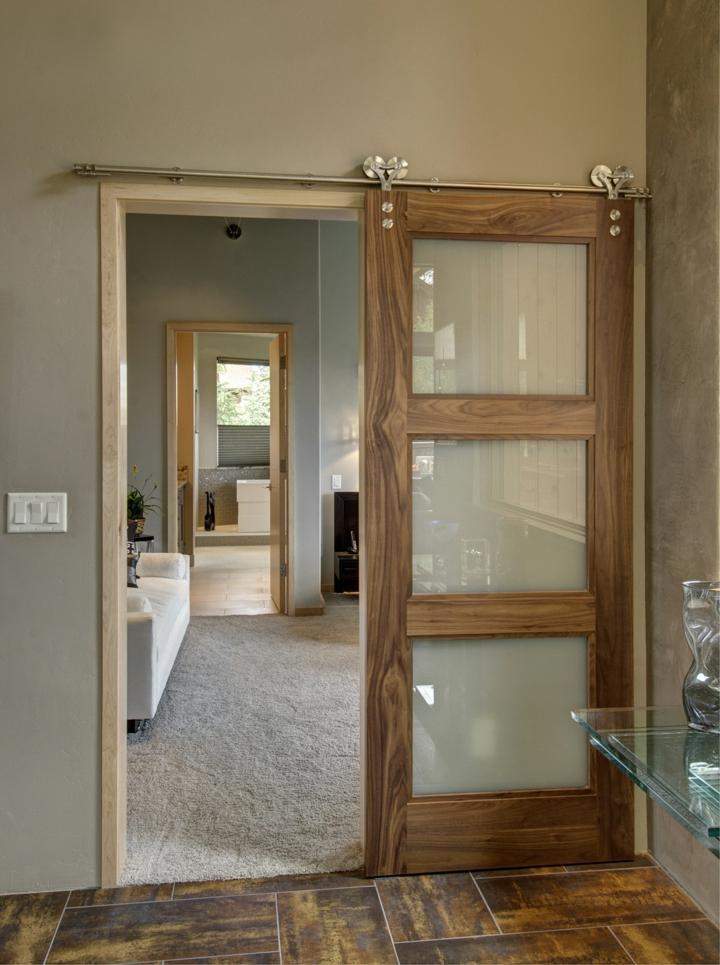 portes coulissantes couleurs de salle de bain design moderne