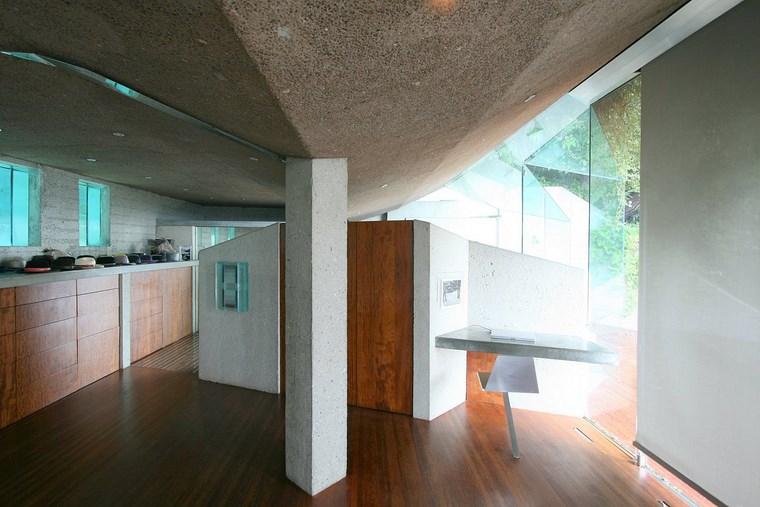 idées de design d'intérieur maison colline