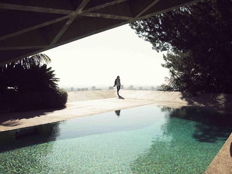 maison jardin vue piscine idées