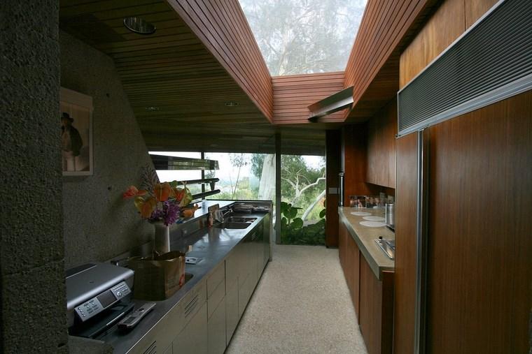 meubles de cuisine en acier idées de maison moderne