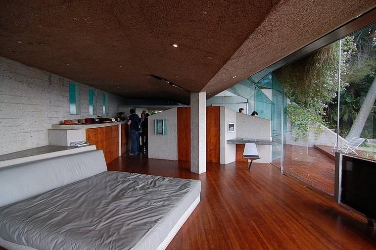 idées de conception de plancher de bois chambre spacieuse et lumineuse