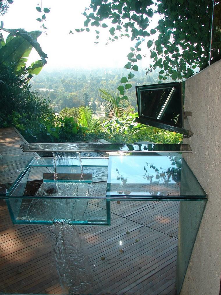 Idées modernes de la colline de l'évier en verre