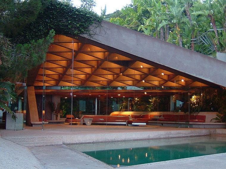 Éclairage de la colline de la résidence idées de piscine de jardin
