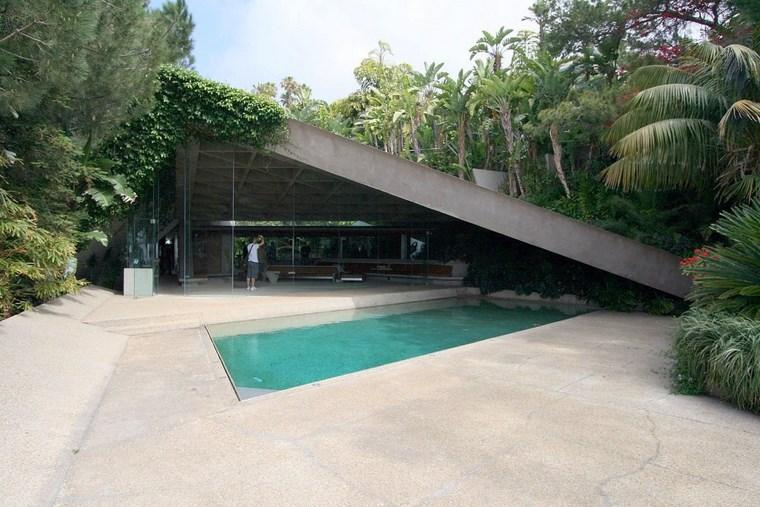 idées de plantes de piscine de jardin de colline de résidence