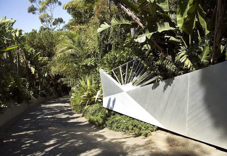 idées de palmiers d'entrée de colline moderne de résidence