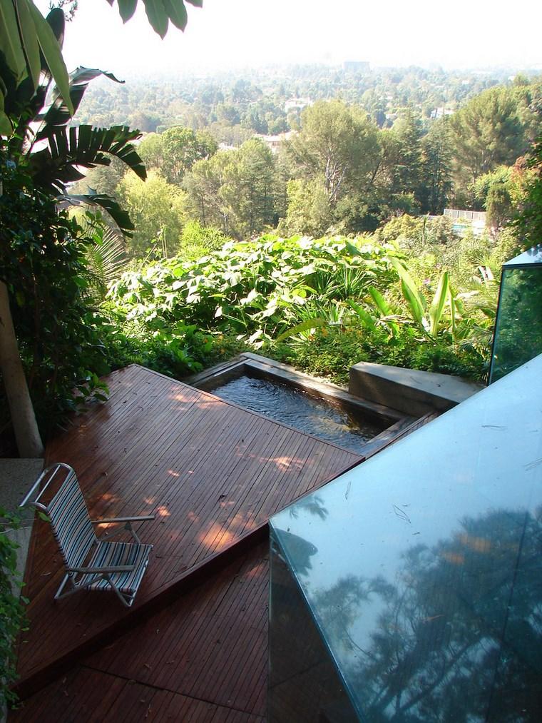 terrasse jacuzzi niveaux idées de parquet